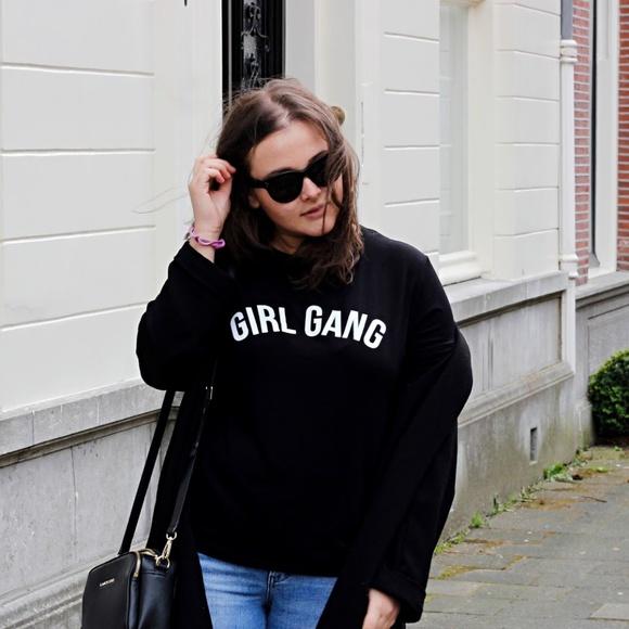 298e1fd157836 Boohoo Tops | Girl Gang Oversized Tshirt | Poshmark